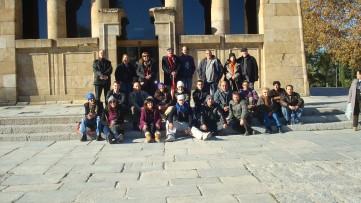Algunos de los asistentes durante una excursion el fin de semana.
